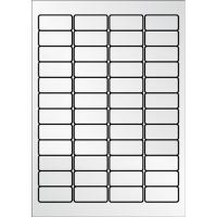 Caja de 960 etiquetas de poliéster APLI 10066 cantos romos metalizadas