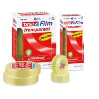 Pack 10 rollos de cinta adhesiva transparente TESA Office Film 15 mm x 33m