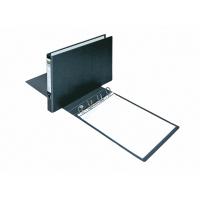 Carpeta de 4 anillas  cartón plastificada en PVC  A3 apaisado  negro  ELBA