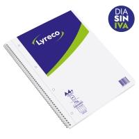Cuaderno Lyreco 80 hojas formato A4+ microperforado cuadriculadol color blanco
