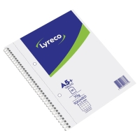 Cuaderno Lyreco 80 hojas formato A5+ microperforado cuadriculadol color blanco