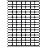 Caja de 4725 etiquetas removibles APLI 10198 cantos romos 25,4x10mm blancas