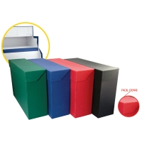 Caja transferencia folio doble fondo  KARMAN azul  Dimensiones: 390x255x205mm