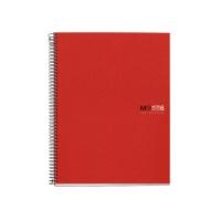Cuaderno MIQUELRIUS Notebook6 150 hojas A5 microperforado cuadriculado rojo