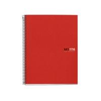 Cuaderno MIQUELRIUS Notebook6 150 hojas A4 microperforado cuadriculado rojo
