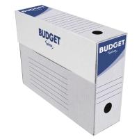 Pack de 50 cajas archivo definitivo blanco-gris  folio prolongado  LYRECO Budget