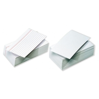 Pack de 100 fichas de recambio  185g2 líneas horizontales  Dimensiones: 75x125mm