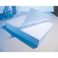 Caja 2500 hojas papel listado 70g/m2 pautado azul perforado. 380 x 280 mm