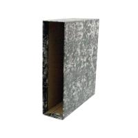 Cajetín palanca cartón jaspeado lomo 82mm  formato folio  LYRECO