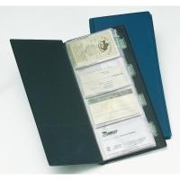 Tarjetero PVC para 160 tarjetas/20fundas  color negro