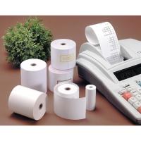 Pack 10 bobinas papel térmico para calculadora 55g/m2. 50mx57mmx46mm.
