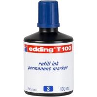 Tinta permanente de color azul para marcadores EDDING