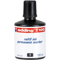 Tinta permanente de color negro para marcadores EDDING
