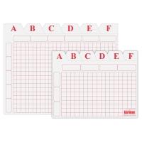 Juego de separadores A-Z de cartón blanco de 500g2  Dimensiones:    100 x 150mm