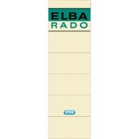 Pack de 10 etiquetas adhesivas para archivadores  lomo 75mm ELBA