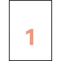 Caja de 20 etiquetas para impresión láser APLI 01225 cantos rectos transparentes