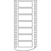 Caja de 3000 etiquetas APLI 11 impresora matricial 1 salida 127x48,7 mm blancas