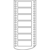 Caja de 4000 etiquetas APLI 4 impresora matricial 1 salida 88,9x36 mm blancas