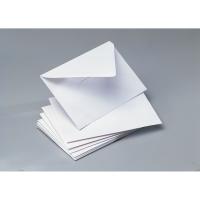 Caja 100 sobres blancos para tarjetas visita,papel offset CLÁSICO. Dim:70x106mm