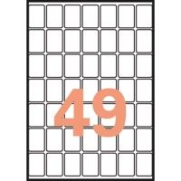 Caja de 735 etiquetas autoadhesivas A5 APLI 1865 cantos romos 19x27mm blancas