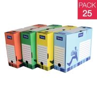 Pack de 25 cajas archivo definitivo  color azul  formato A4  LYRECO
