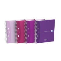 Cuaderno doble espiral 100 hojas A5+ de 90g/m2,cuadrícula 5 mm. OXFORD Beauty