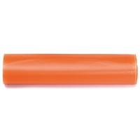 Rollo de 15 bolsas de basura de 30 litros 550x600mm color naranja