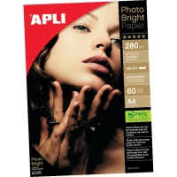 Paquete de 60 hojas papel A4 Photo Bright APLI de 280g/m2