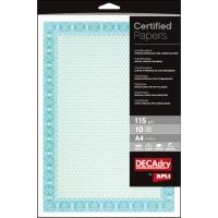 Paquete de 10 certificados A4 de 115g/m2 APLI color azul