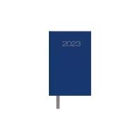 Agenda de bolsillo encuadernada LYRECO semana vista horizontal 85 x 130 mm. Azul