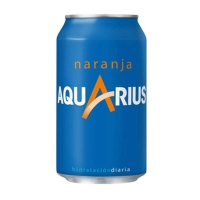 Pack de 24 latas de AQUARIUS naranja 33 cl