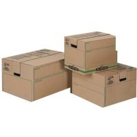 Pack de 5 cajas de embalaje FELLOWES Grande de 457 x 406 x 457 mm