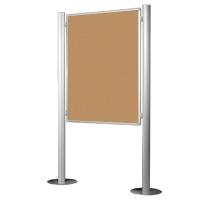 Tablero anuncios de corcho con soporte pie BI-OFFICE. dimensiones 1200x900 mm