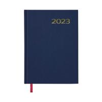 Agenda de sobremesa LYRECO, día página de 140 x 200 mm. Color azul