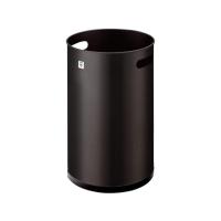Papelera metálica CILINDRO P-21 color negro Dimensiones:    370 x 250mm