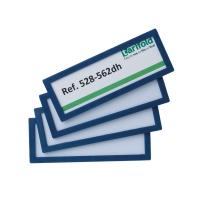 Pack de 4 marcos identificación TARIFOLD adhesivo de 120 x 45 mm