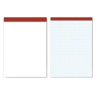 Block 80 hojas grapado cabecera sin cubierta formato folio cuadriculado PACSA