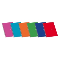 Cuaderno espiral 80 hojas folio cuadrícula 4 x 4mm PACSA colores surtidos