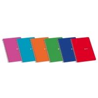 Cuaderno espiral 80 hojas 4º cuadrícula 4 x 4mm ENRI colores surtidos