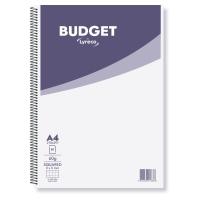 Cuaderno espiral 80 hojas folio,cuadrícula 4 x 4 mm.60g/m2,LYRECO Budget
