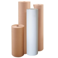 Rollo 300 metros de papel embalaje calidad kraft blanco 80 g/m2 110cm