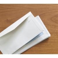 Caja de 500 sobres blancos con ventana a la derecha de 115 x 225 mm