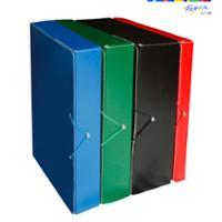 Caja de proyectos cartón prespán lomo 90mm  color rojo  FABRISA