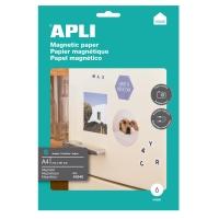 Paquete de 8 hojas papel inkjet magnético APLI A4 650g/m2 color blanco