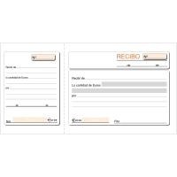 Talonario RECIBOS 100 hojas sin duplicado con matriz dimensiones 208x109mm
