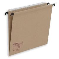 Pack de 25 carpetas colgantes con visor Folio Kraft TIKIFADE