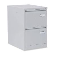 Cajón archivador de acero standard BISLEY de 2 cajones color gris