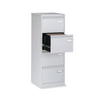 Cajón archivador de acero standard BISLEY de 4 cajones color gris