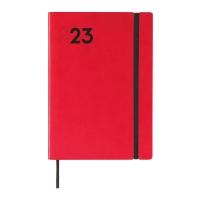 Agenda de sobremesa DYNAMIC MARA, día página de 140 x 204 mm. Color rojo