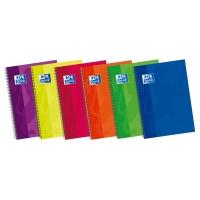 Cuaderno OXFORD con 80 hojas folio 4x4 tapas duras en colores surtidos